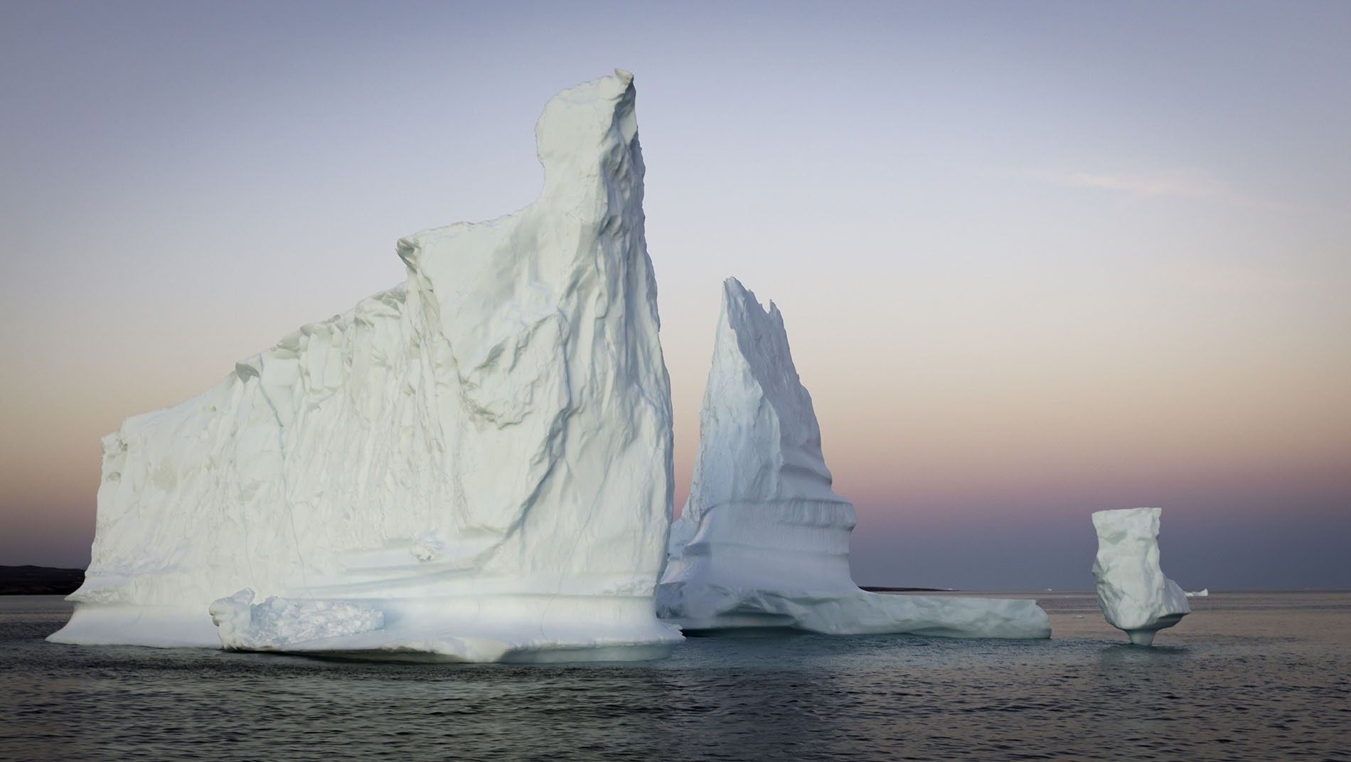 Icebergs in Greenland's Scoresby Sound.