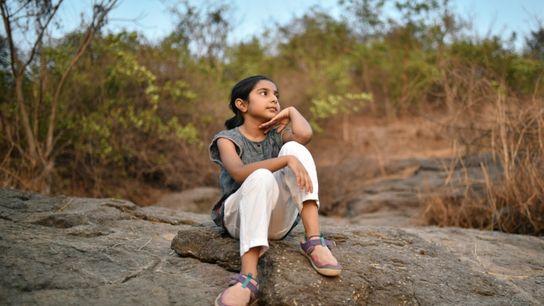 Girl Sitting Outside - Sitting in Silence