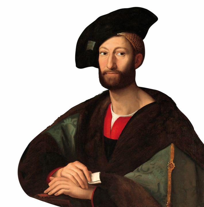 Giuliano de' Medici regent of Florence. An early copy of a portrait by Raphael. Metropolitan Museum ...