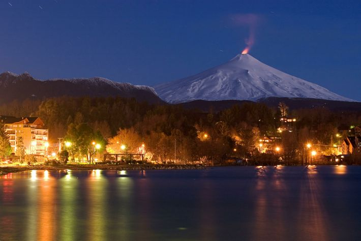 Villarrica, in Chile, is set to be the dramatic location the path of totality for an eclipse on 14th ...