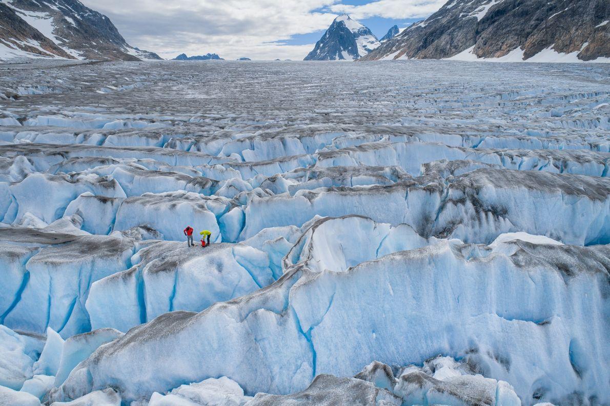 Explorer Mike Libecki and rock climber Ethan Pringle traverse Greenland's ice cap. Despite its verdant name, ...
