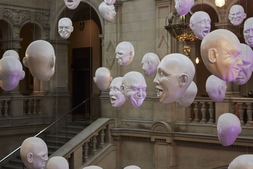 Sophie Cave's Floating Heads installation at Kelvingrove Art Gallery and Museum. Credit: Nick Warner
