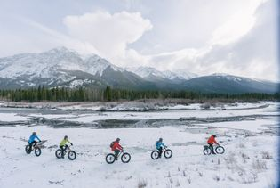 Fat Biking is a new way to experience winter in some of Alberta's many parks.