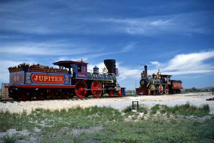 The Golden Spike National Historical Park offers hikes along the original Central Pacific and Union Pacific ...