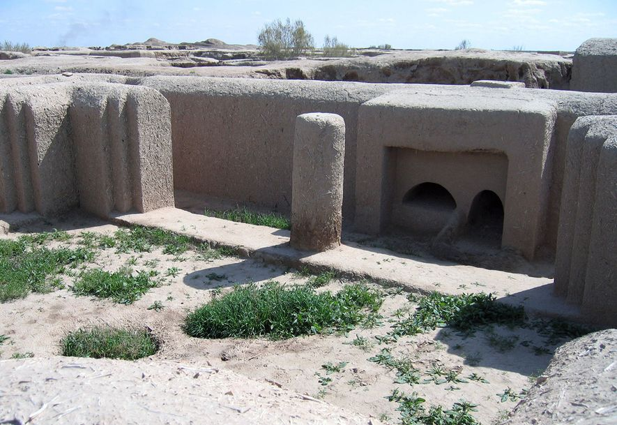The ancient fortress town of Gonur Tepe, about 30 miles outside the city of Mary in western Turkmenistan, is still being excavated and restored.