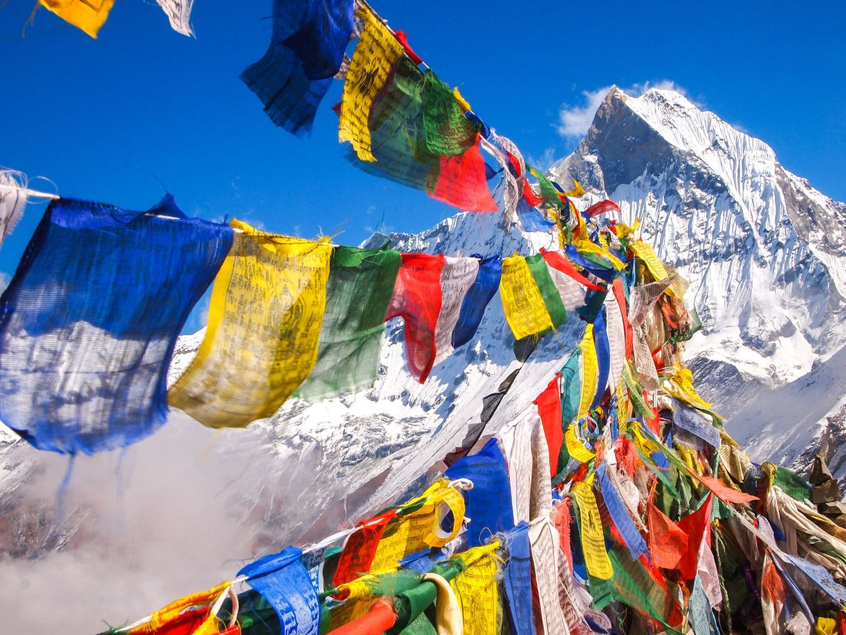 Divided into four summits, Annapurna in Nepal is considered a massif, or a group of compacted …