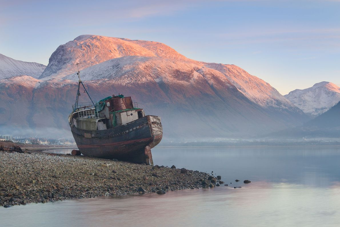 Once an active volcano, Ben Nevis erupted and collapsed inward on itself millions of years ago.