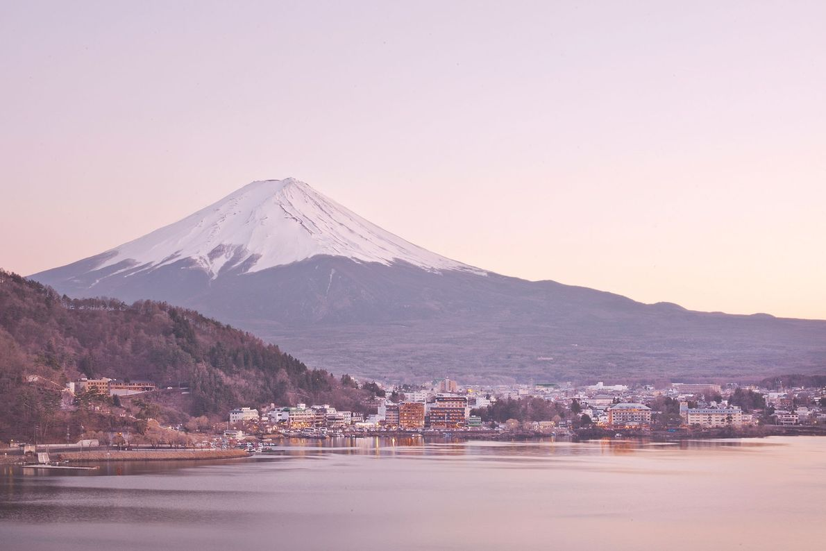 An active volcano that last erupted in the 18th century, Japan's Mount Fuji has been a ...