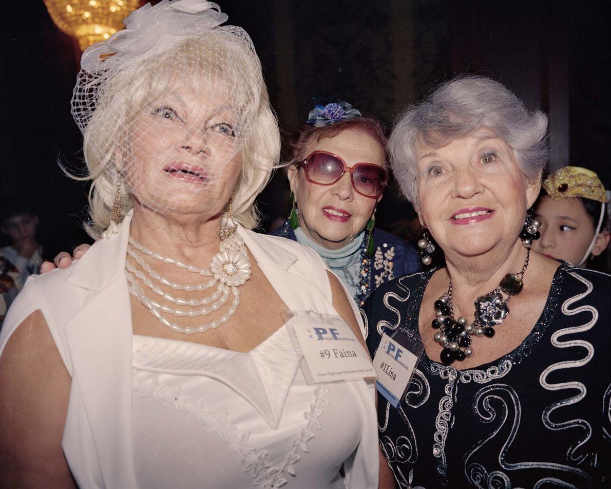 From left to right: Faina Konusova, Fanya Verets, and Lina Sapelnikova wait backstage to be called ...