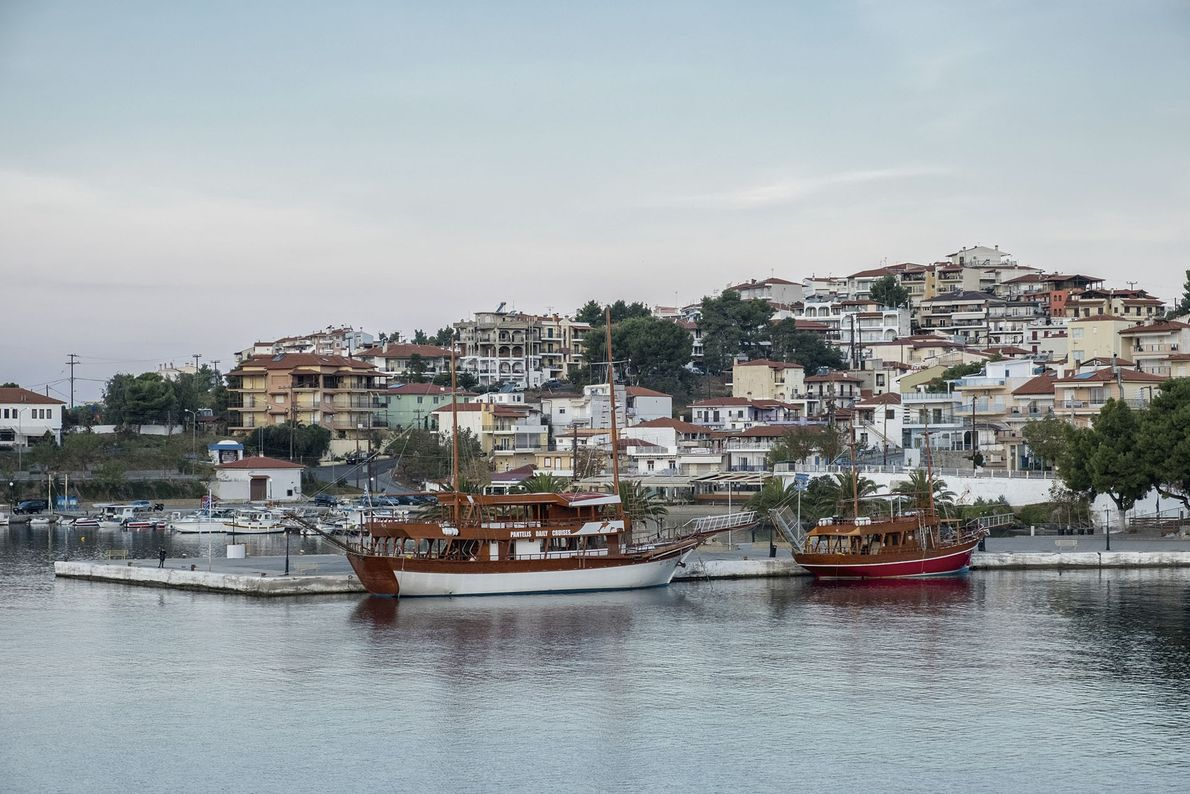 Neos Marmaras, a town on the west coast of the Sinthonia Peninsula