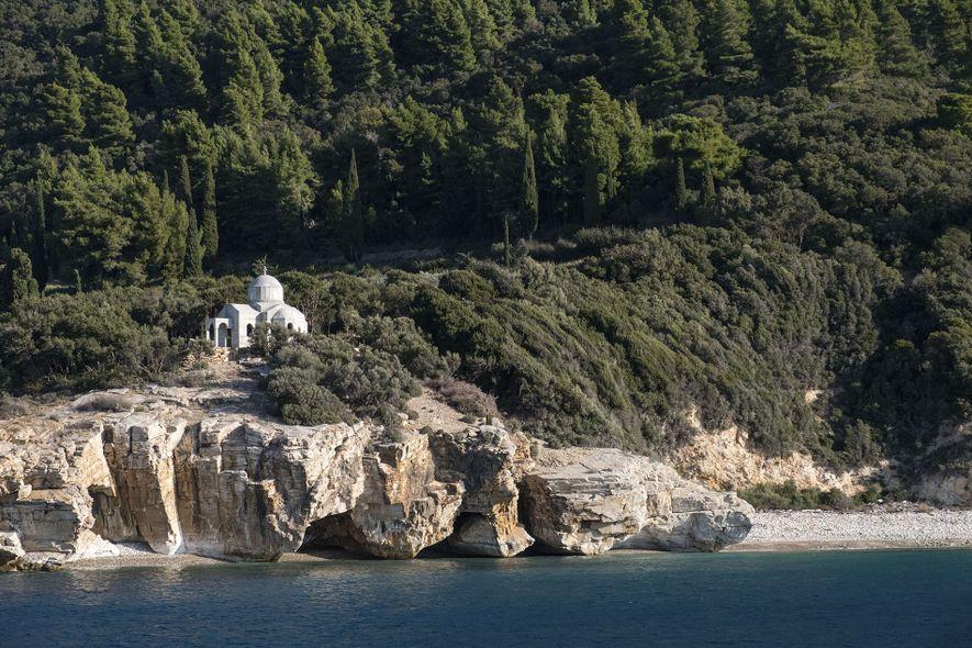 One of the 20 monasteries found on Mount Athos.
