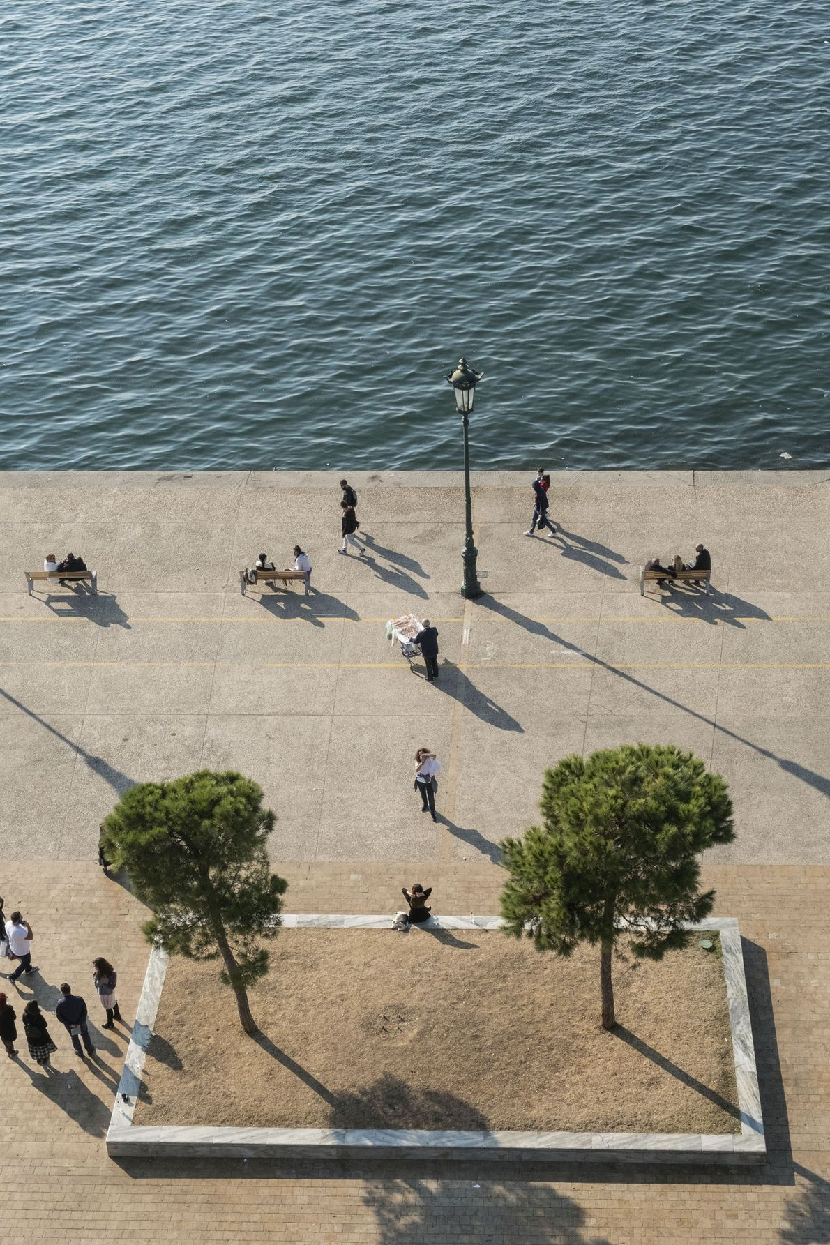 View of Thessaloniki's waterfront from the top of the White Tower.
