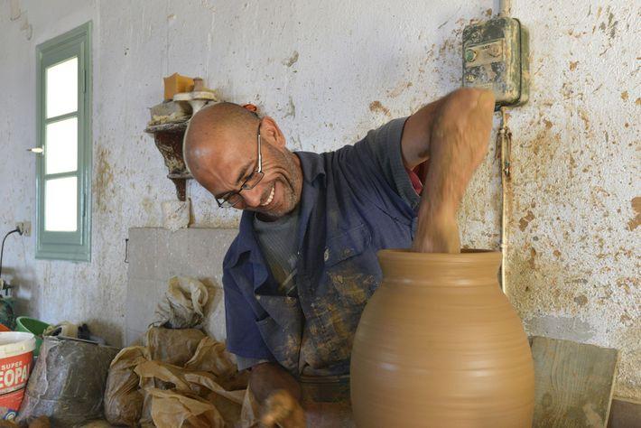 George Bairamis, a potter.