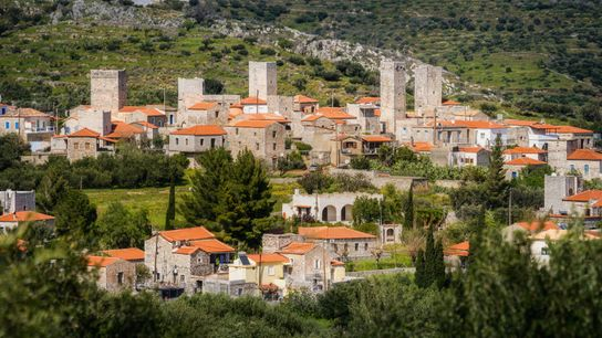 The fortified settlement of Flomochori, one of the many tucked-away towns in this rural corner of ...