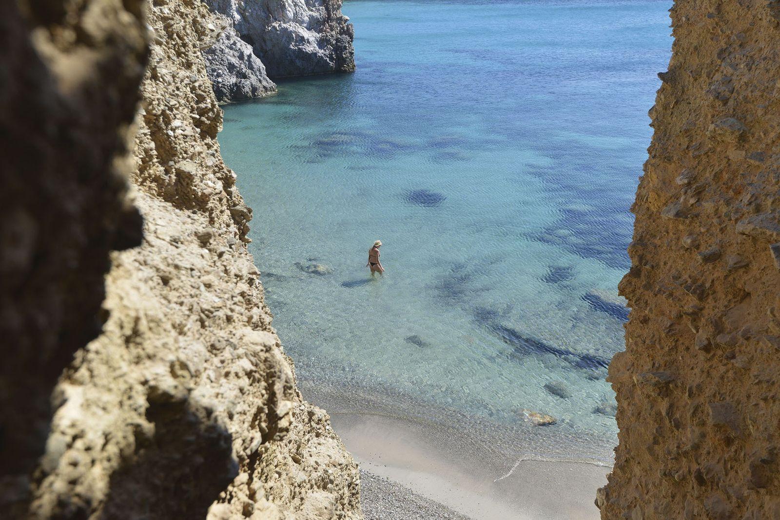 Tsigrado Beach, Milos.
