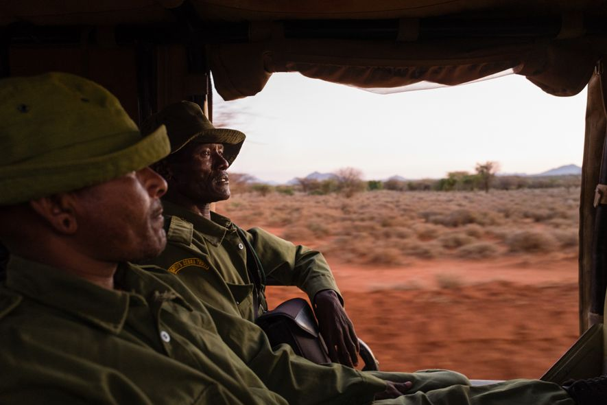 Lewarani Loidingae, left, and Lenengetai Lmantoros are ambassadors with the Grevy's Zebra Trust. Trained in security ...