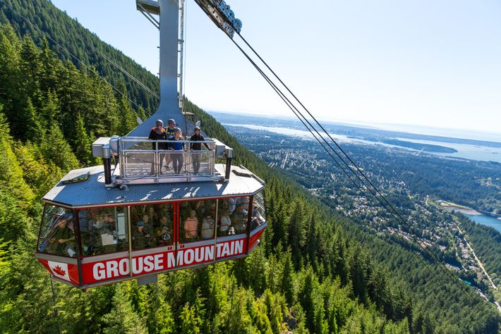 Grouse Mountain's Skyride Surf Adventure is a summer opportunity to ride on top of the Grouse ...