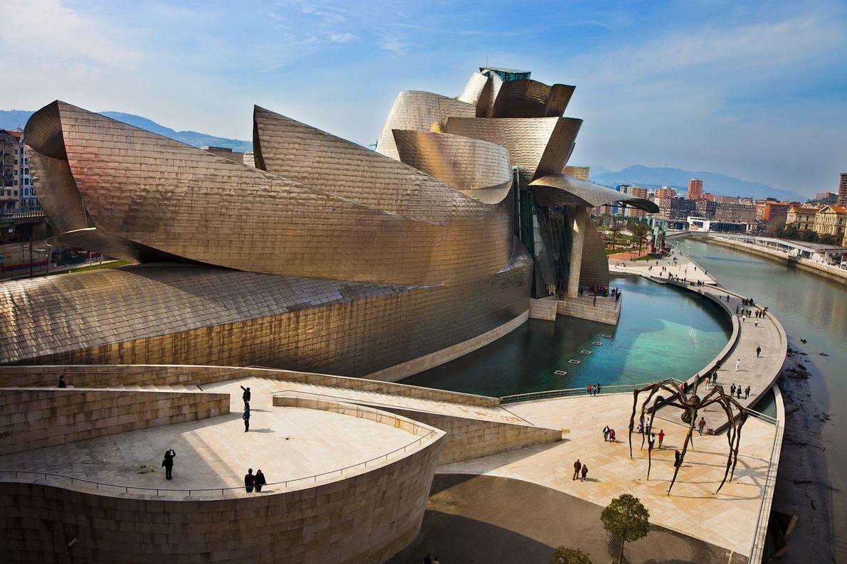 The Guggenheim Museum in Bibao, Spain.