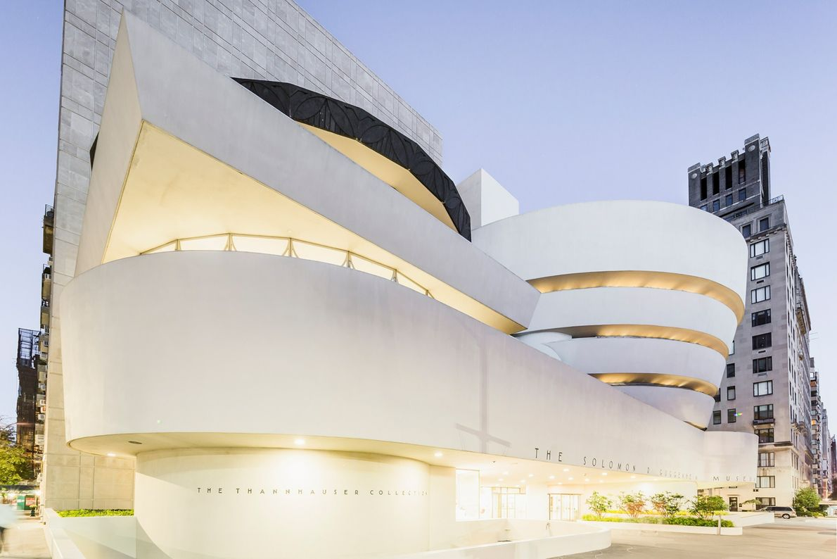 Architect Frank Lloyd Wright was planning out New York's Solomon R. Guggenheim Museum in the 1940s, ...