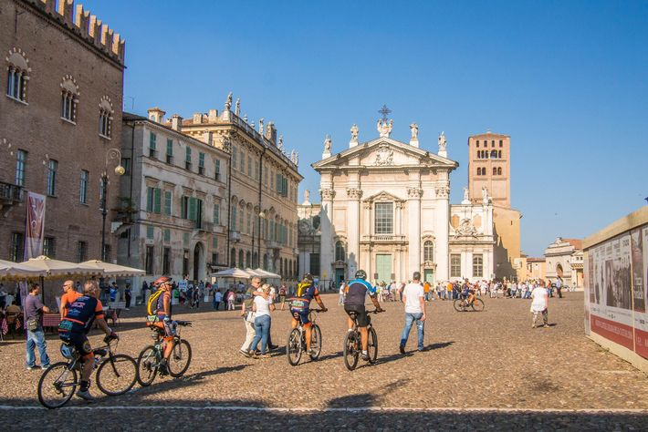 The stunning Piazza Sordello is where you can find the Cathedral of San Pietro.