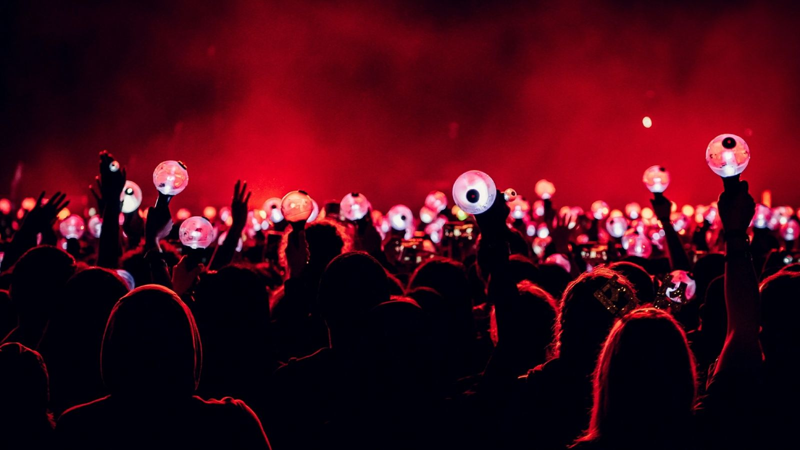 Fans hold up their lights at the concert by the all-boy K-pop group BTS at Citi ...