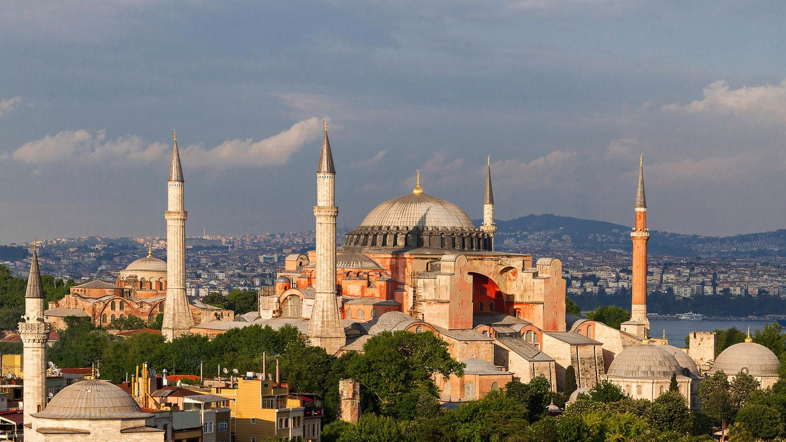 Istanbul: The Hagia Sophia, one of the world's architectural marvels, rises near the Bosporus.