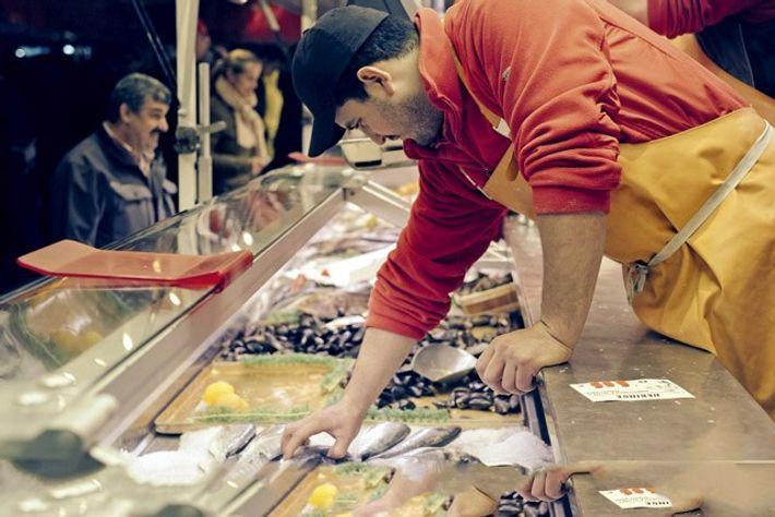 Stall at Hamburger Fischmarkt