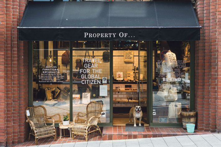 Property of...is the place to pick up dapper-looking multi-compartment bags, snazzy belts and high-end guidebooks, and ...
