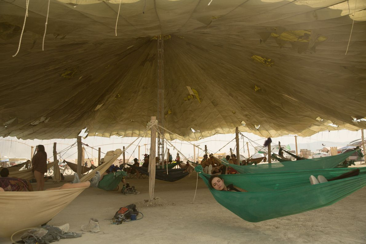 The Hammock Hangout Camp is a great place to have a snooze any time of day.