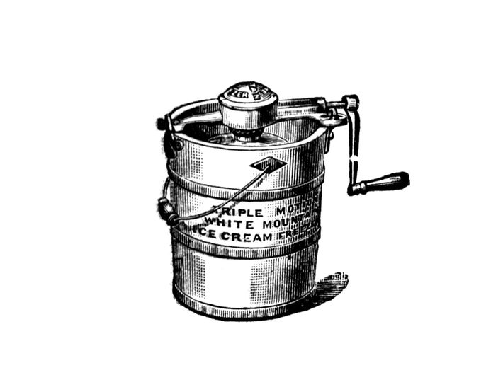 In 1843 New Yorker Nancy M. Johnson patented the first hand-cranked ice-cream maker. After turning the ...