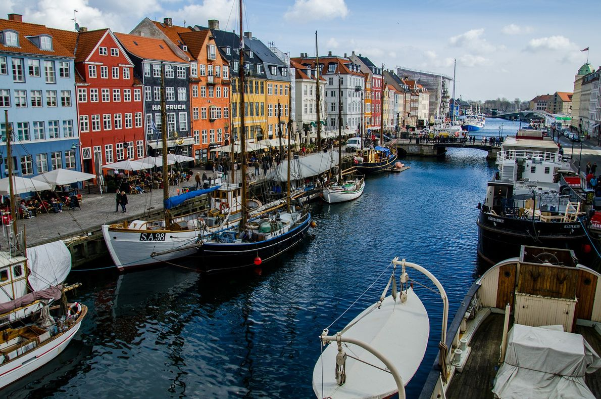 With a history of more than 250 years, the Nyhavn canal has many historic wooden ships ...