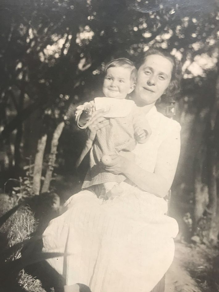 A babe in arms in 1935, Helena and her mother, Galina Vorobiova, pose for a portrait ...
