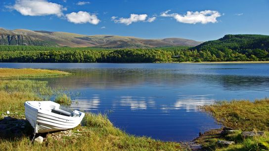 The Loch Garten Nature Reserve in the Cairngorms National Park is a sprawling expanse of rugged ...