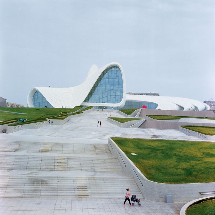 All fluid folds, the curving Heydar Aliyev Centre is named for Azerbaijan's third president–and has won ...