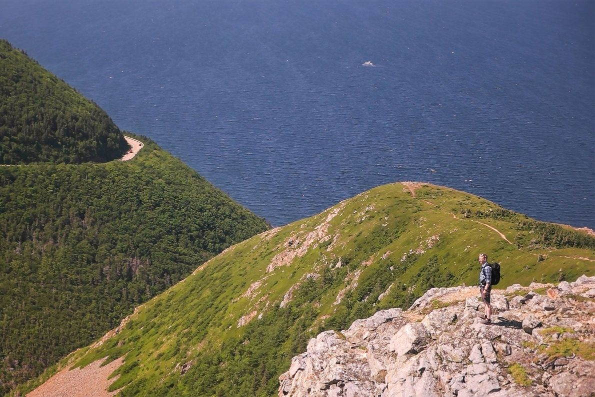 Experience the splendor of Cape Breton Highlands National Park with a hike along the Skyline Trail.
