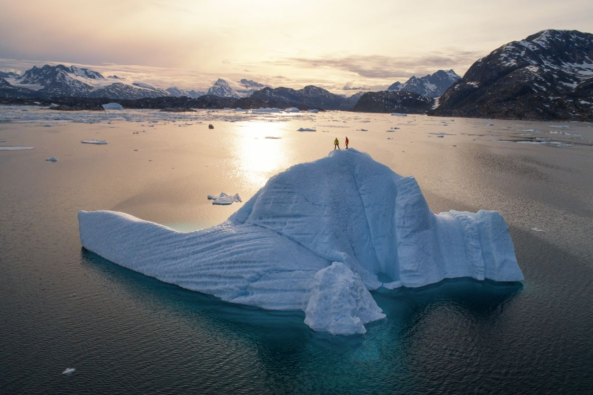 Greenland's dramatic terrain inspires travellers to explore its jaw-dropping views atop floating icebergs and serrated mountainscapes.