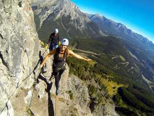 Climbing Mount Norquay Via Ferrata, Banff National Park.