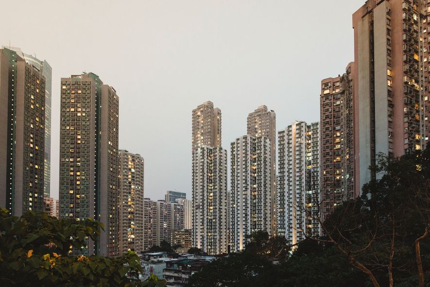 On the eastern side of Hong Kong Island, the Taikoo Shing residential towers jut into the ...