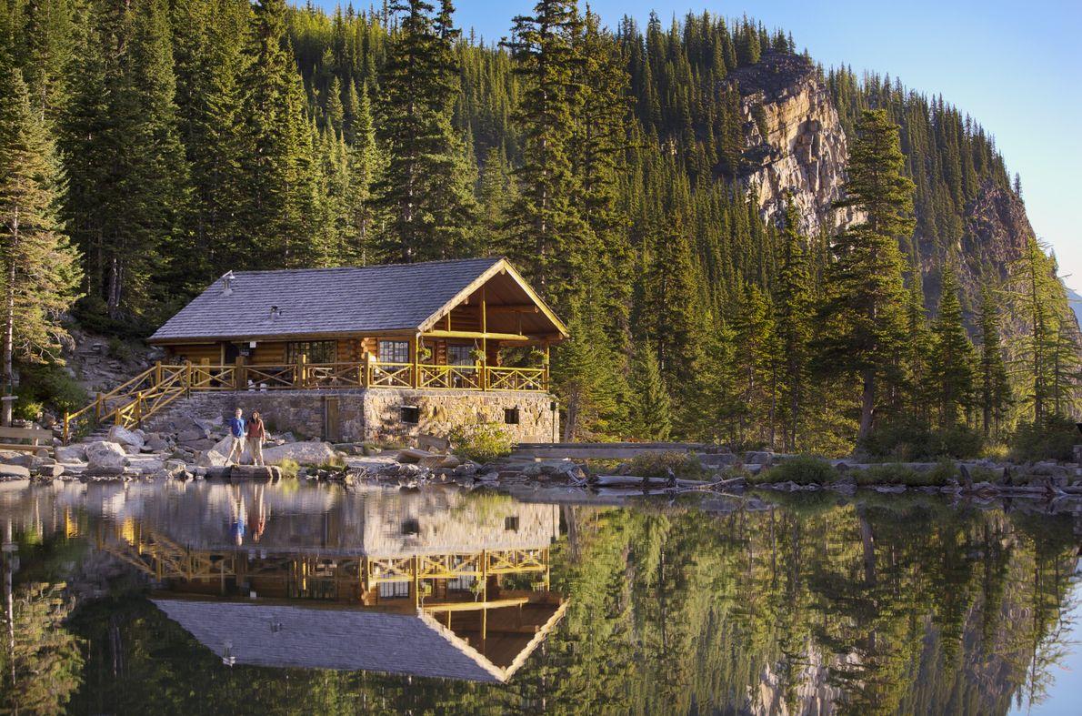 View of the Lake Agnes Tea House.