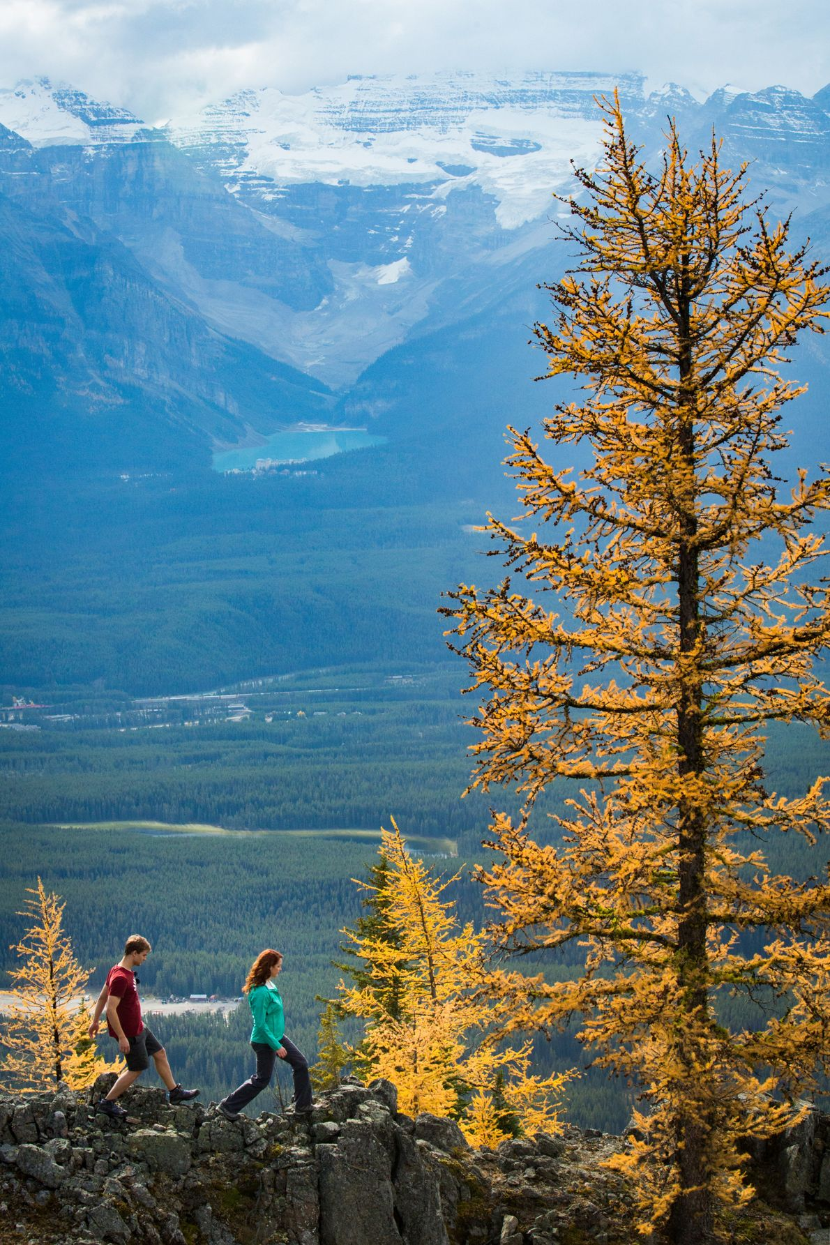 There are hikes for all ability levels around Lake Louise that offer breathtaking views.