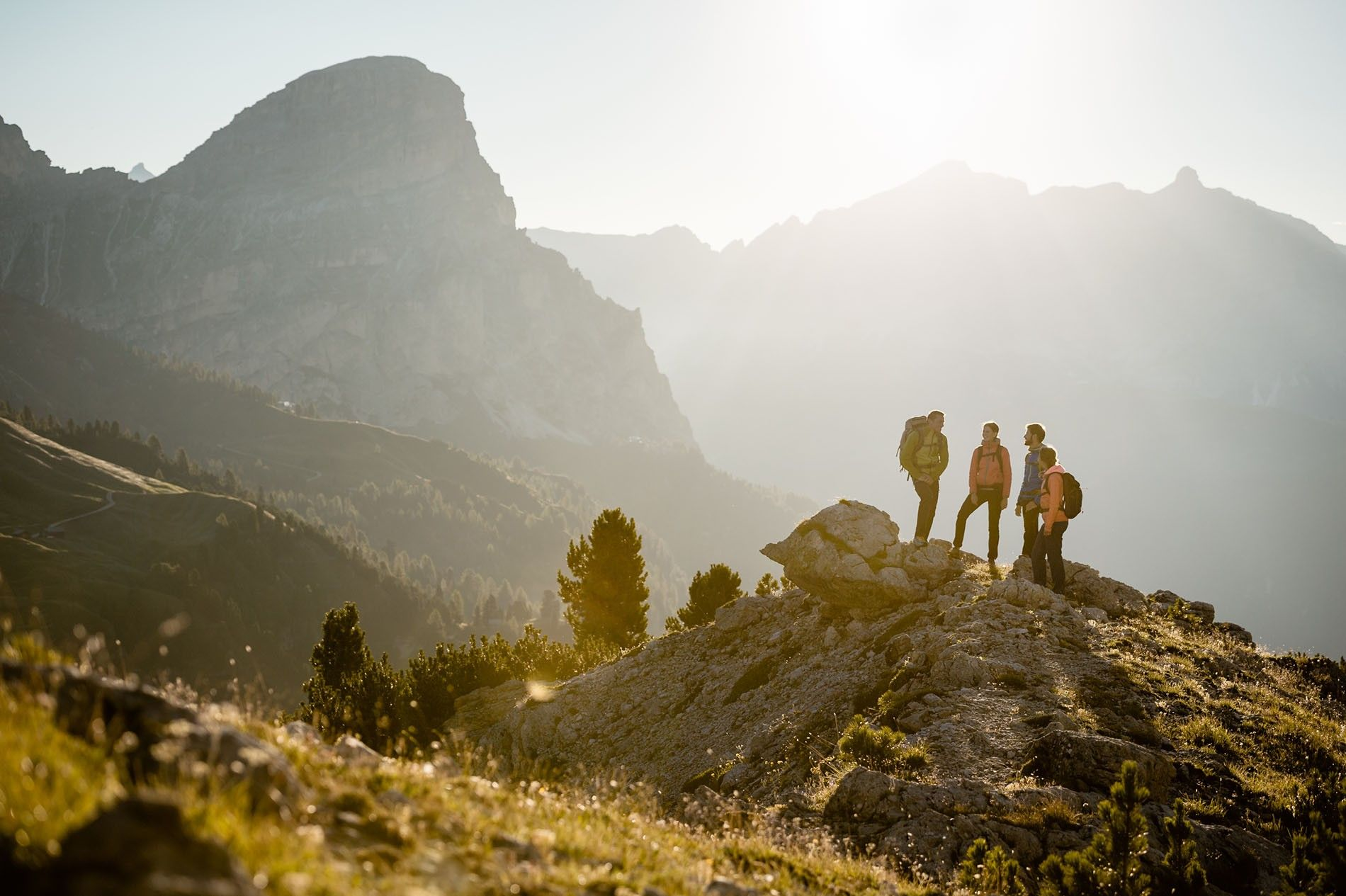 Hiking in the Dolomites in Alta Badia provides amazing views.