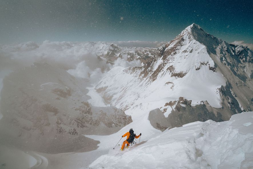Inside the first ski descent of the world's 4th tallest peak