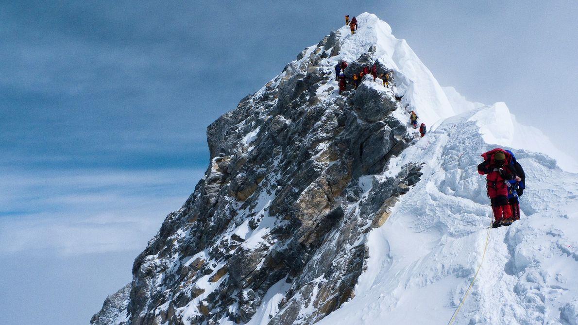 Hillary Step on Mount Everest, Nepal