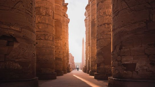 The Karnak Temple Complex in Luxor, Egypt is home to an impressive and stunning array of ...