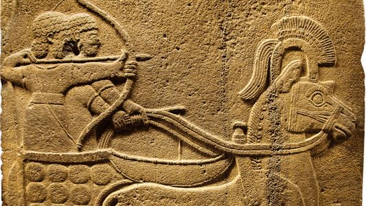The Hittites' fast war chariots threatened mighty Egypt