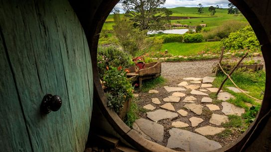 The hobbit holes of the North Island's Hobbiton movie set act as a portal to New ...