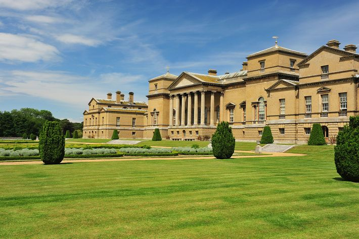 Holkham Hall sits in a 25,000-acre agricultural estate complete with boating lake and sweeping parkland,