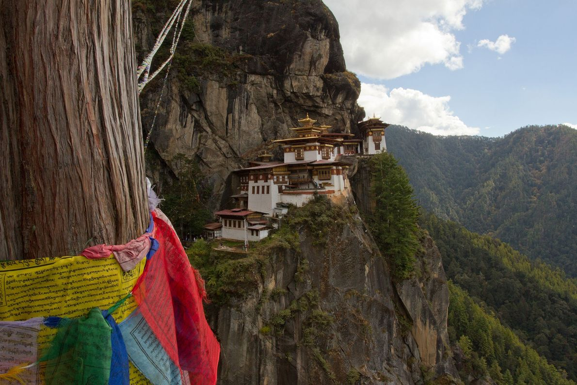 Paro Taktsang, Bhutan: this Buddhist temple is situated on a precipitous cliff in the Himalayan foothills ...