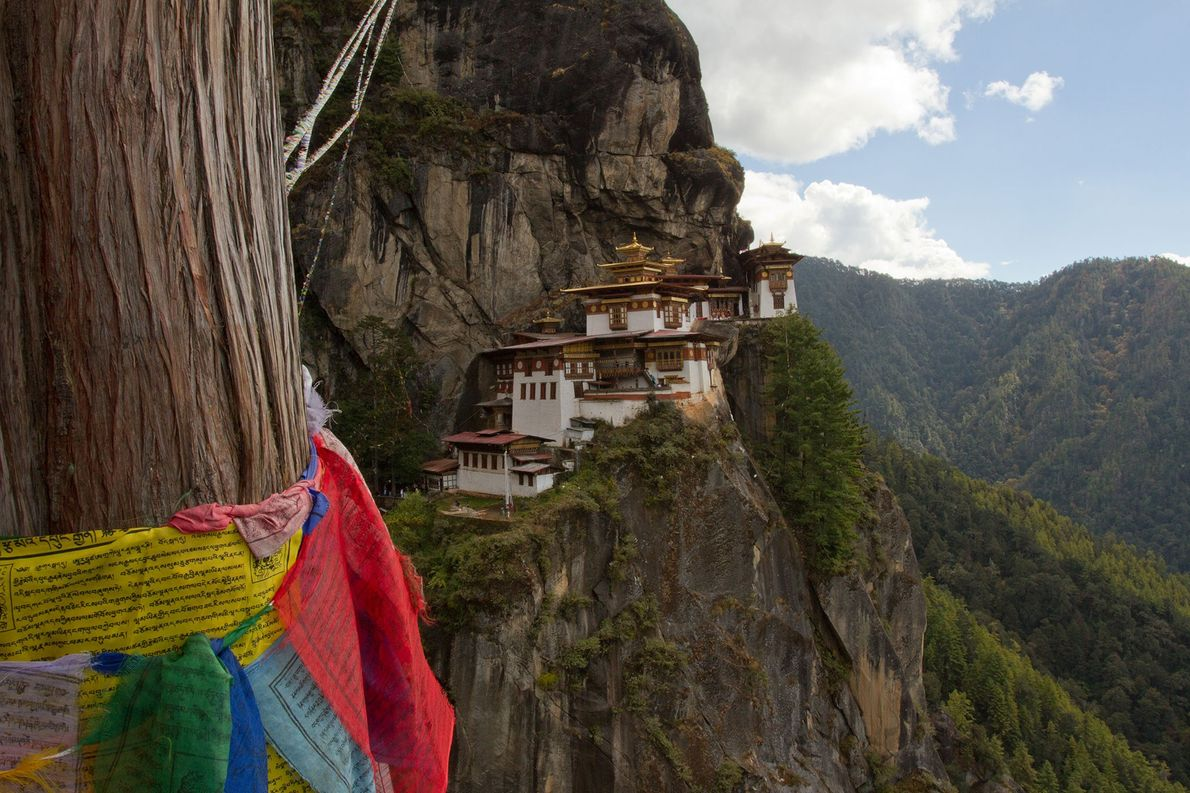 Paro Taktsang, Bhutan: this Buddhist temple is situated on a precipitous cliff in the Himalayan foothills …