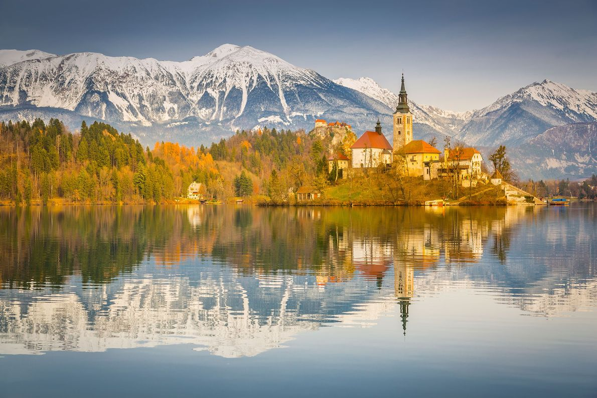 Church of the Assumption, Slovenia: The Church of the Assumption sits on a small island in …